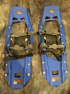 Used MSR Evo Snowshoes- Blue
