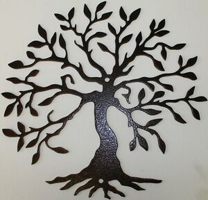 Tree of Life 2 Metal Wall Art Home Decor - Copper Vein