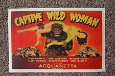 Captive Wild Woman Lobby Card Movie Poster Evelyn Ankers