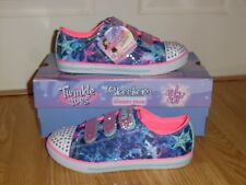 New Girl's Size 3 Skechers Twinkle Toes Shoes Chit Chat Dazzle Days 10562L