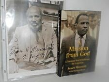 Civil Rights - A Mission from God a memoir - signed James Meredith photo
