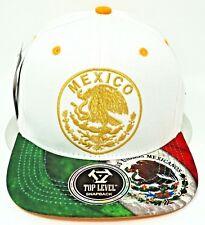 MEXICO Snapback Cap Hat Mexican Eagle Aguila Flag Flat Bill Adult OSFM NWT