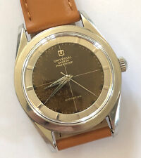 MONTRE / WATCH AUTOMATIC UNIVERSAL GENEVE POLEROUTER @ CAL 215 @ EARLY SERIAL