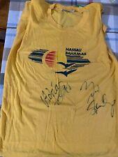 Vtg Nassau Bahamas Shirt signed by Adrian Vandenberg and Rudy Sarzo Whitesnake