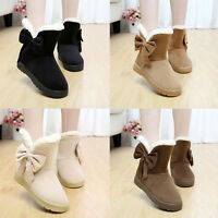 Bowknot Warm Women Flats Shoes Snow Boots Autumn Winter Shoes Fashion 2016