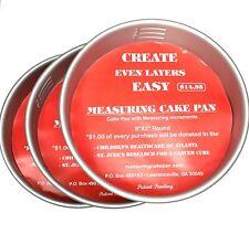 """The Measuring Cake Pan - 3-Piece Measuring Cake Pan - 8"""" x 2"""""""