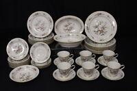 37pc Set Vtg. Noritake ASIAN SONG #7151 Ivory Porcelain China for 8, Japan (182)