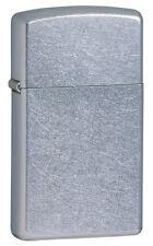 Zippo Slim Windproof Street Chrome Lighter, 1607,  New In Box