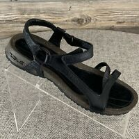 Teva Sandal RIGHT SHOE ONLY For Amputee Women's 8 Black Leather Flats Strappy