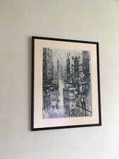 Black And White Painting Oriental Town Scene