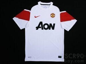 NIKE Manchester United 2010/11 Away White Jersey Football Shirt 382470-105 Small