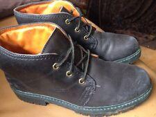 Sebago Drysides Worn Black Men's Lace Up Hi-top Ankle Boots UK 6