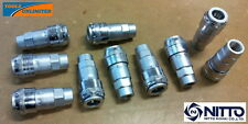 """Genuine Nitto Air Fittings - (10 X) 1/4"""" Female Sockets - One touch Series"""