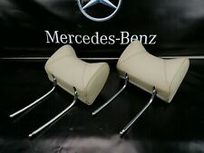 MERCEDES W123 Rear Seat Headrest  Creme  Set of 2