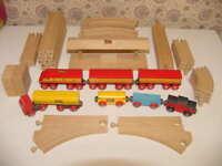 Brio Wooden Diesel Red Train Truck Tractor Trailer Track Bridge Station Railway