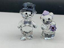 Swarovski Figurine 1096736 Crystal Bear Wedding 5 Cm. Top Zustand