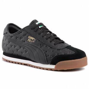 Puma Roma 68 Gum Black 370600 01 Retro Fashion Trainers UK 3.5 - 9