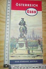 A19) alte ESSO Landkarte ÖSTERREICH, map