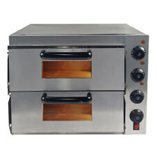 More details for new commercial pizza oven double deck electric  stone base  baking fire uk
