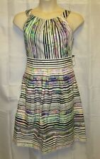 NWT Nine West 16 1x Dress Sun Summer Stripe Career Church Modest Tea Easter