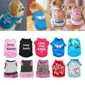 Summer Lovely Dog I Love Mommy Printed T-Shirt Small Puppy Cat Vest Pet Clothes