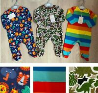New Mini Club Boots Baby Boys Jungle Animal Camo Dino Rainbow Sleepsuits Grows