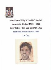 JACKIE SINCLAIR NEWCASTLE UNITED 1967-1970 RARE ORIGINAL HAND SIGNED PICTURE