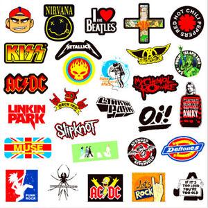 Vinyl Band Stickers 3''-4'' Rock n Roll Nu Metal Metallica Rammstein and More