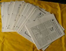 Stephen Esrati 'The Plate Number' Newsletter Lot of 18 Vintage 1989-92 Philately