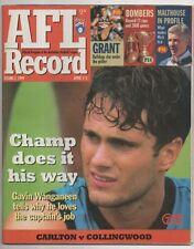 Football Record 1999 CARLTON v COLLINGWOOD round 2 Carlton Win