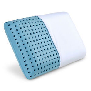 Cooling Memory Foam Pillow - Ventilated Bed Pillow Infused with Cooling Gel