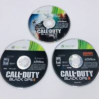 Call of Duty: Black Ops 1, 2, & 3 (Microsoft Xbox 360, 2012) Disc Only Lot Of 3