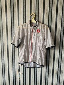 castelli jersey  cycling nylon gray metallic exclusive size XL  jersey