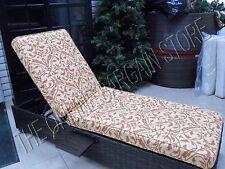 Frontgate Out Chaise Cushion Softly Elegant Sunbrella Brick Wheat Tuscan 26x83