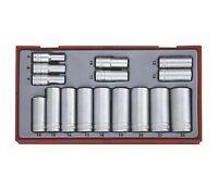 Teng Tools 3/8 Drive Deep Socket Set 6 Point Hex Socket 7mm > 22mm In Case