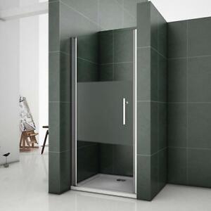 Box doccia per nicchia porta battente cristallo satinato opaco temperato profilo