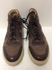 Andrew Marc Men's Size 10.5 Amconl 639 High-Top Sneakers Burgundy Leather