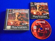 ps1 CARMAGEDDON Racing Game Boxed COMPLETE Playstation PAL ps2 ps3