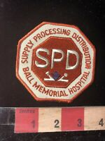 Vintage Medical Patch BALL MEMORIAL HOSPITAL SPD SUPPLY PROCESSING DIST. 89AC