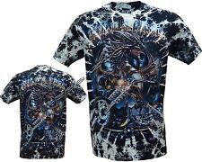 New Wild &Free Dragon Biker Motorbike Glow in The Dark Tye Dye T- Shirt M - 3XL