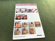 safety card swissair a 310