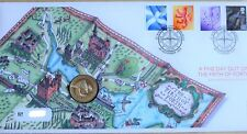 GB QEII PNC COIN COVER 2004 FINE DAY OUT ON THE FIRTH OF FORTH £1 COIN B/UNC