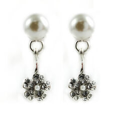 Plated Imitation Pearl Stud Earrings (Fe426) Fashion Jewelry - 18k White Gold