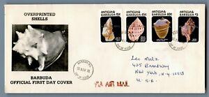 DR WHO 1986 ANTIGUA & BARBUDA FDC OVERPRINTED SHELLS  C240549