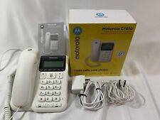 Motorola Corded Phone with Answering Machine Advanced Call Block Caller Id Ct610