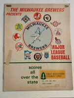 1969 Chicago White Sox vs NY Yankees Baseball Program UNSCORED VERY GOOD