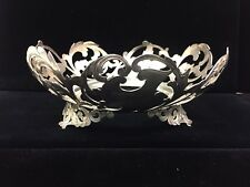 Vintage Sterling Silver Bowl Pierced Holder