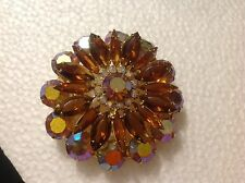 Vintage Aurora Borealis Multicolored Rhinestone Juliana Style Pin/Brooch