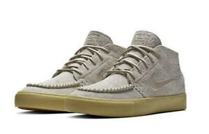 Nike SB Zoom Janoski Crafted Mid Beige Gold Skate Bone Shoes Sneakers Men AQ7460