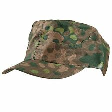 Men'S Military WW2 German Elite Field Dot44 Peas Camo Cap Hat L